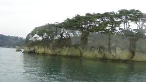 松島湾の遊覧船からの風景