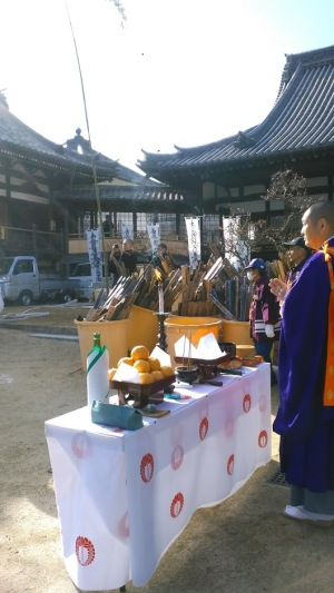 妙林寺のお火焚き